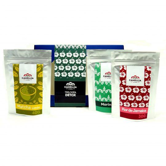 trilogia getox flor de jamaica matcha moringa teteria camellia té te tea infusiones
