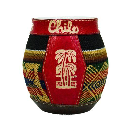 matero mate matera ceramica modelo chile tejido ilustracion palmera