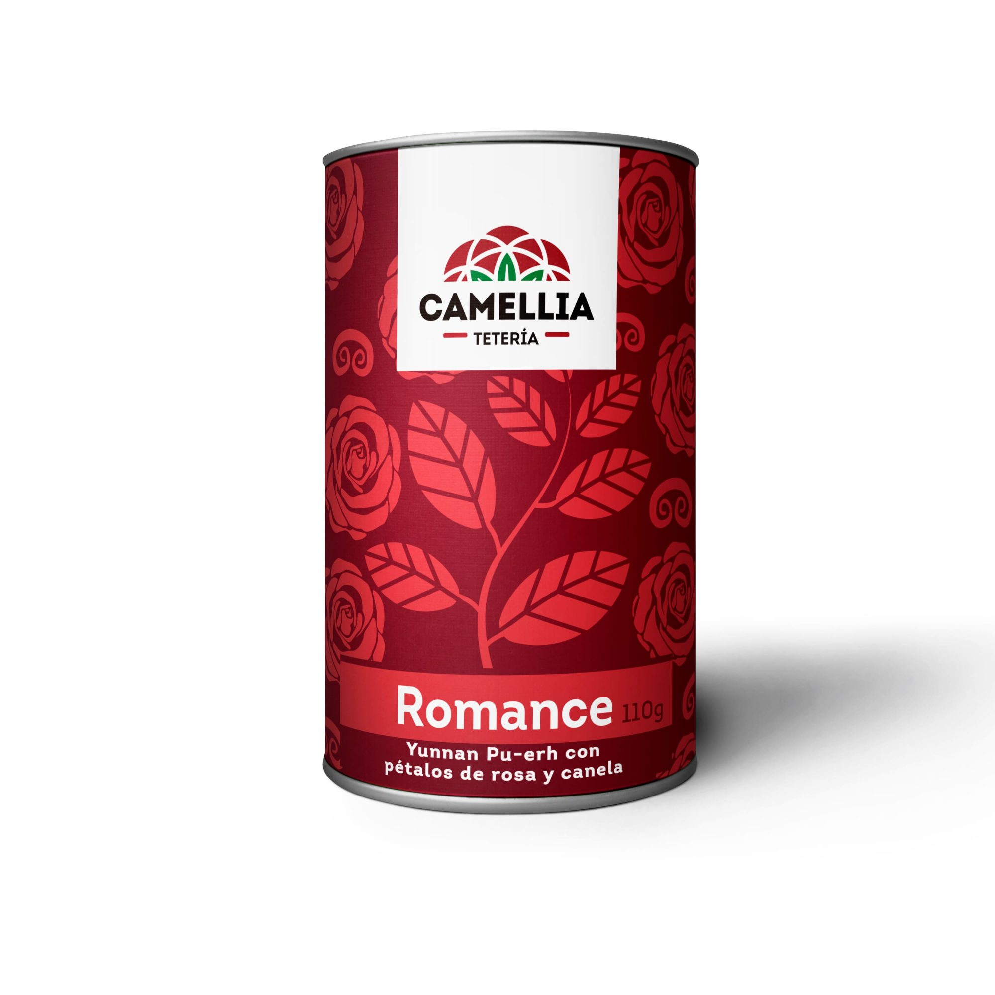 romance té rojo pu-erh yunnan petalos de rosa y canela