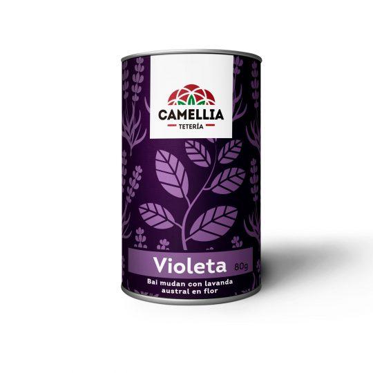 violeta te té tea blanco bai mudan con lavanda inglesa en flor