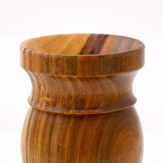 mate matera matero de madera torneada interior